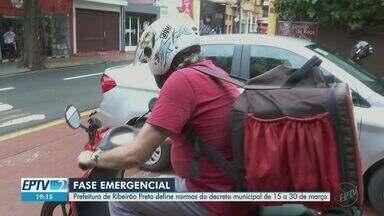 Prefeitura de Ribeirão Preto define normas do decreto municipal de 15 a 30 de março - Durante os finais de semana, apenas serviços emergenciais poderão funcionar.