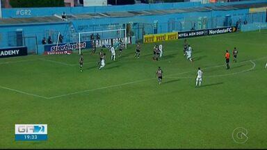 Salgueiro leva a melhor sobre o Santa Cruz e vence a primeira na Copa do Nordeste - Leozão fez o gol da vitória