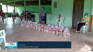 Moradores da Comunidade São José recebem cestas básicas - Veja como foi a ação desenvolvida pelo Puxirum da Vida.