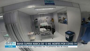 Aumento nas mortes por Covid-19 na BA pode ser causado pelas novas cepas do vírus - Nesta sexta-feira (12), o estado superou a marca de 13 mil mortes pela doença.
