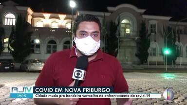Nova Friburgo, RJ, fica sob bandeira vermelha na próxima semana - Cidade está sob bandeira laranja. Com a mudança, medidas de restrições passam a ficar mais rígidas novamente.