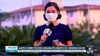 MPF pede providências urgentes sobre possível desabastecimento de oxigênio em RO - Ofício foi encaminhado ao Ministro da Saúde, onde explica que o sistema de saúde de Rondônia está com taxa máxima de ocupação de leitos de UTI há 48 dia, além de fila de espera de pacientes.