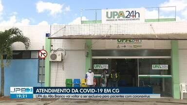 UPA do Alto Branco volta a atender exclusivamente pacientes com Covid-19 em Campina Grande - Veja como vai funcionar atendimento.