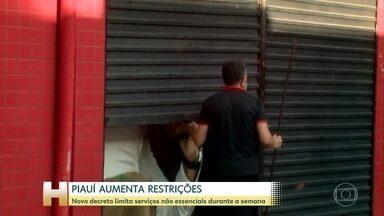 Novo decreto no Piauí proíbe atividades não essenciais de quinta a domingo - Medidas mais duras valem até 21 de março; taxa de ocupação das UTIs no estado chega a 91%