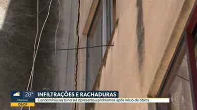 Rachaduras aparecem em condomínio do Capão Redondo após obra na rua - Moradores reclamam de falta de assistência das autoridades.