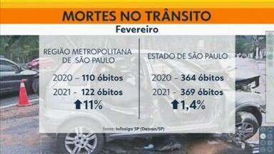 Número de mortes no trânsito cresceu em SP - Alta nas cidades da região metropolitana de SP foi de 11%.