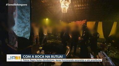 Fiscalização fecha prostíbulo e bar de narguilé com mais de 50 pessoas, em Goiânia - Em um dos locais acontecia até uma festa de aniversário, segundo informou a Guarda Civil.