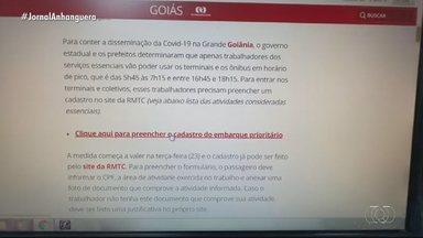 Passageiros terão de fazer cadastro para poder usar ônibus em horário de pico - No G1 Goiás tem o passo a passo de como fazer o cadastro.