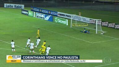 Corinthians vence o Mirassol pelo Campeonato Paulista - Times se enfrentaram em Volta Redonda, no Rio de Janeiro.