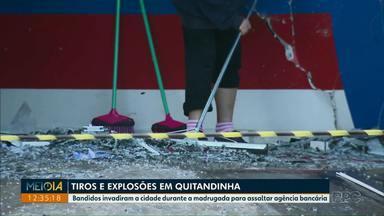 Bandidos assaltam agência bancária na cidade de Quintandinha - Moradores viveram momentos de tensão durante a madrugada.
