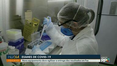 Novo equipamento deve agilizar a entrega dos resultados dos exames de Covid-19 - Os exames antes eram feitos pelo Lacen, Laboratório Central do Estado do Paraná.