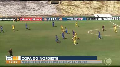 Jacaré perde para o Sampaio Corrêa no Albertão e deixa o G4 na Copa do Nordeste - Jacaré perde para o Sampaio Corrêa no Albertão e deixa o G4 na Copa do Nordeste