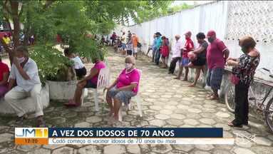 Codó começa a vacinar idosos de 70 anos - O município acaba de receber mais de 3 mil doses de imunizante.