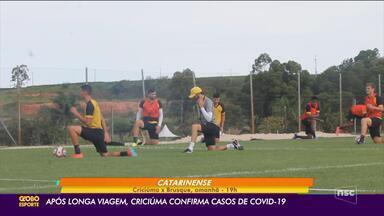 Criciúma confirma casos de Covid-19 depois de longa viagem pela Copa do Brasil - Criciúma confirma casos de Covid-19 depois de longa viagem pela Copa do Brasil