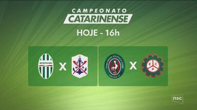 Mais 2 jogos no Campeonato Catarinense hoje - Mais 2 jogos no Campeonato Catarinense hoje