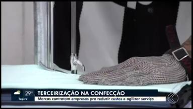 Em Divinópolis, marcas contratam empresas para fabricação de itens de confecção - Conforme empresários do setor, decisão ajuda a reduzir custos em cerca de 20% e agiliza os serviços.