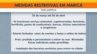 Maricá e Saquarema adotam medidas mais rígidas para conter o avanço da Covid-19 - Medidas passam a valer na sexta-feira, junto com o super feriadão no Rio de Janeiro.