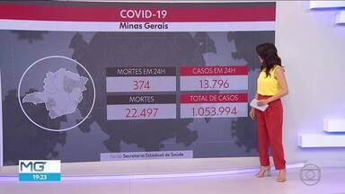 374 mortes por causa da Covid foram registradas em 24 horas em MG - Pouco mais de 5% da população foi vacinada.