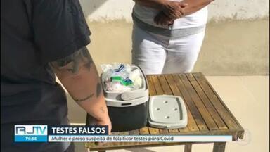 Polícia prende mulher que fazia testes falsos de covid - Uma pessoa chegou a pagar R$200,00 pelo teste