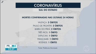 RJ2 mostra números da pandemia na região - Número de óbitos subiu em Valença, Paulo de Frontin, Pinheiral, Três Rios e Barra do Piraí.