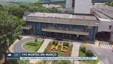Março registra o maior número de mortes por Covid-19 em Ribeirão Preto - Foram 194 óbitos em 24 dias.