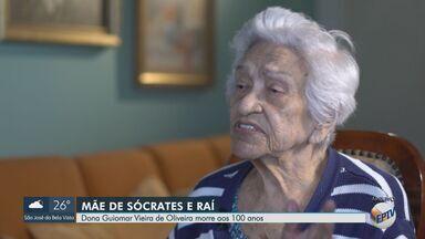 Morre Dona Guiomar, mãe de Sócrates e Raí, aos 100 anos - Velório e enterro serão restritos à família.