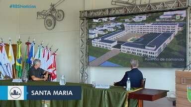 Santa Maria pode ser sede de uma escola de sargentos do exército - Uma cúpula de militares visitou os locais onde poderá ser instalada uma nova escola de sargentos do exército. Santa Maria compete com Ponta Grossa, no Paraná, e Recife, em Pernambuco.