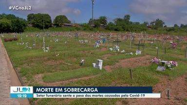 Covid-19 volta a sobrecarregar serviço funerário em Belém - Cidade tem cemitérios superlotados e falta de madeira para produzir tantos caixões.