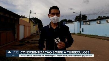 Profissionais de saúde fazem bliz educativa em conscientização ao combate à tuberculose - Cuidados com a doença.