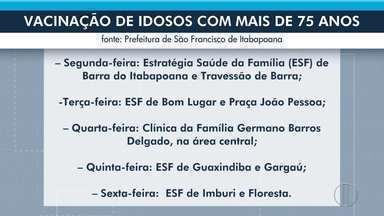São Francisco de Itabapoana, RJ, abre agendamento para vacinação de idosos com 75 anos - Vacinação de idosos com 75 anos ou mais começa na segunda-feira (29).