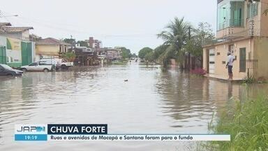 Ruas e avenidas de Macapá e Santana vão para o fundo após intensas chuvas - Ruas e avenidas de Macapá e Santana vão para o fundo após intensas chuvas
