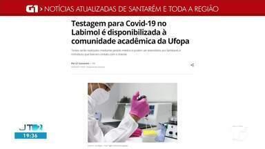 Testes para comunidade acadêmica da Ufopa é notícia em destaque no G1 Santarém - Acesse a reportagem completa no g1.com.br/tvtapajos