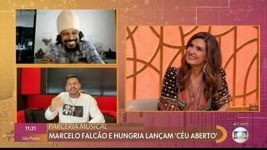 Marcelo Falcão e Hungria lançam clipe de 'Céu Aberto' - Músicos falam da parceria musical e do clipe cheio de participações especiais e mensagens de otimismo. Os dois cantam versão especial da música para o 'Encontro'