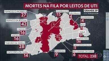 Mais de 200 pessoas morrem à espera de vaga de UTI em São Paulo - O estado registrou novo recorde, com 1.209 mortes por Covid em 24 horas.
