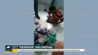 Polícia prende homem por tráfico de drogas em Guarulhos - Ele escondia porções de cocaína e maconha em chão falso.