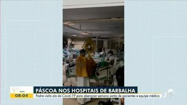 Padre visita hospital para bênção da Semana Santa no Cariri - Saiba mais em: g1.globo.com/ce