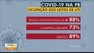 Ocupação de leitos de UTI para adultos chega a 88% na Região Metropolitana de João Pessoa - Em Campina Grande, índice é de 73% e no Sertão, 89% dos leitos para Covid-19 estão ocupados.