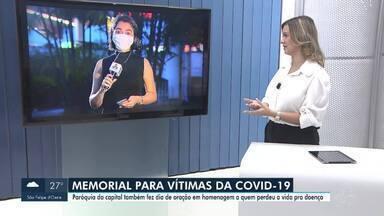 Igreja faz memorial em homenagem às vítimas de covid-19 em Porto Velho - Cruzes foram colocadas em frente à paróquia Nossa Senhora de Fátima, no centro da capital.