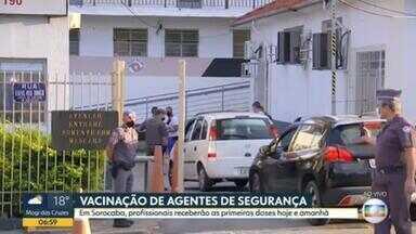 Agentes de Segurança são vacinados contra a Covid-19 em Sorocaba - Doses serão aplicadas nos quartéis e nos batalhões.