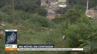 MG Móvel está, pela primeira vez, no bairro Morada Nova, em Contagem - Moradores querem solução para uma rua que está sem qualquer infraestrutura.