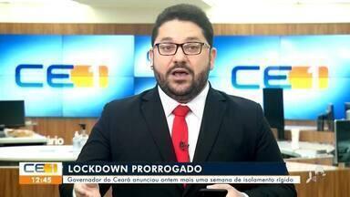 Inácio Aguiar comenta prorrogação do lockdown e auxílio emergencial - Saiba mais em g1.com.br/ce