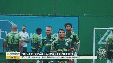 São Paulo apresenta Alex para comandar sub-20; Palmeiras se prepara para jogo decisivo - Tricolor pretende desenvolver jogadores e aliviar a pressão por títulos nas categorias de base. Alviverde encara o Defensa e Justícia pela final da Recopa Sulamericana.
