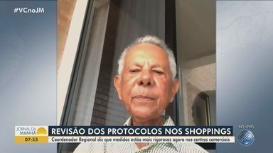 Coordenador regional da Abrasce fala sobre o funcionamentos dos shoppings em Salvador - Centros comerciais voltam a funcionar a partir desta terça-feira (6).