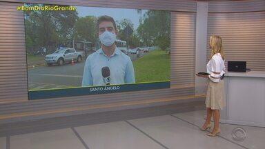 Santo Ângelo vacina idosos com 64 anos ou mais contra a Covid-19 - Assista ao vídeo.