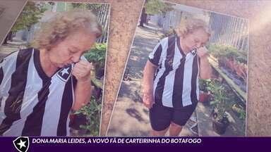 Vovó fã de carteirinha do Botafogo já mandou carta pedindo para CBF cancelar rebaixamento - Vovó fã de carteirinha do Botafogo já mandou carta pedindo para CBF cancelar rebaixamento