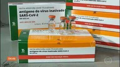 Estudo preliminar aponta que CoronaVac reduziu casos de Covid no 1º grupo vacinado em SP - Profissionais da saúde do Hospital das Clínicas fazem parte do primeiro grupo a ser imunizado na capital paulista, em janeiro. Outro estudo também mostrou que a vacina do Butantan foi eficaz contra a variante brasileira do novo coronavírus.