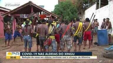 Redução de casos de Covid-19 em aldeias contrasta com a situação de Altamira - Redução de casos de Covid-19 em aldeias contrasta com a situação de Altamira