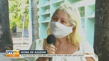 Dona de casa faz doações de livros e café da manhã em Ribeirão Preto - Ação solidária de Lúcia Helena chegou a funcionários de pronto-socorro.