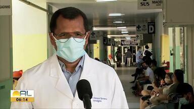 Alagoas teve a semana com maior mortes por Covid-19 desde maio de 2020 - Foram 163 mortes.