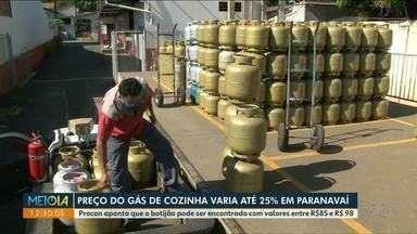 Preço do gás de cozinha varia em até 25% em Paranavaí - Procon aponta que o botijão pode ser encontrado com valores entre R$85 e R$ 98.